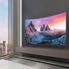 TCL 55Q7 55英寸4K高清超薄曲面全面屏免语音遥控安卓LED液晶电视