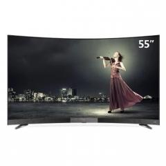 TCL 55T1YP 55英寸曲面电视4K超高清LED液晶曲屏电视