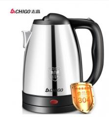 志高(CHIGO)电水壶304不锈钢1.8L电热水壶烧水壶ZD18A-708G8银色