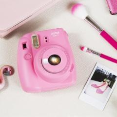 富士instax立拍立得 一次成像相机 mini9 (mini8升级款) 浅莲粉